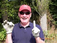 Paul Devine with his hole-in-one golf ball