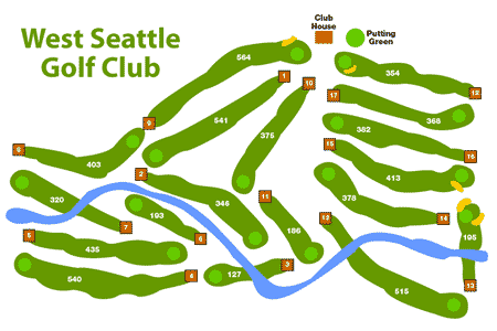 Graphic of West Seattle Golf Course Map